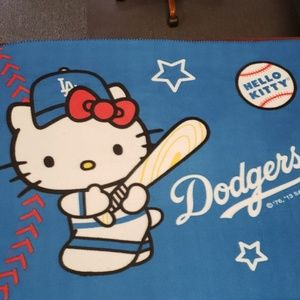 Other - Hello Kitty Dodgers blanket